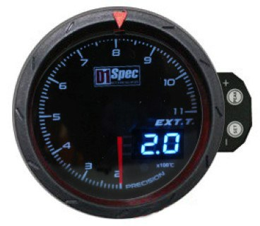 Zegar D1Spec 60mm - Exhaust Temperature - GRUBYGARAGE - Sklep Tuningowy